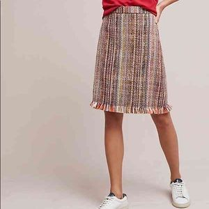 Maeve for Anthropologie Tweed A-Line Skirt